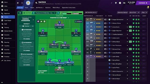 Tựa game Football Manager 2021